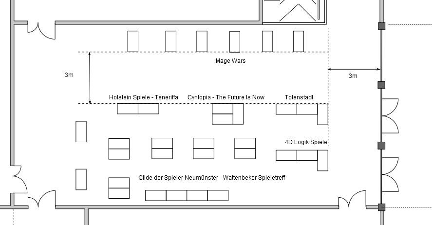 Tischplan Brettspielbereich
